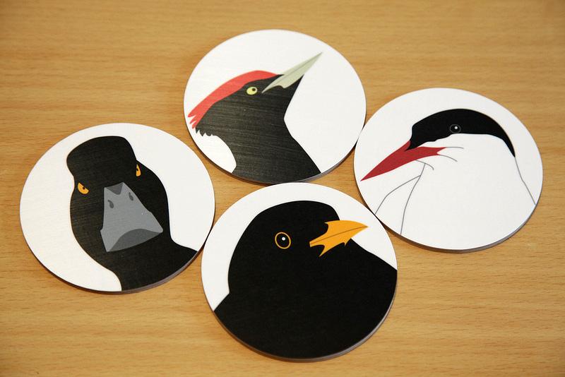 鳥のコースター