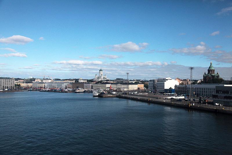 ヘルシンキの街が見えました!