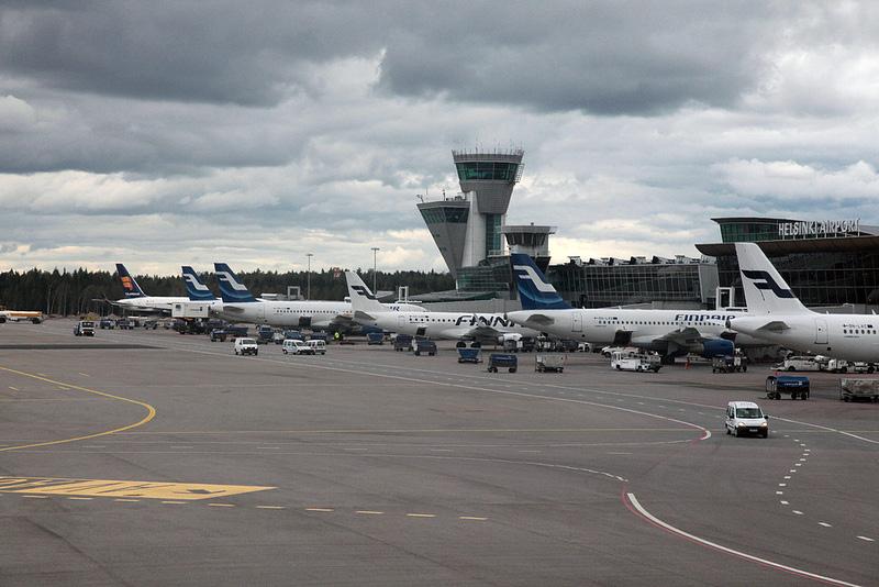 ヘルシンキ・ヴァンター国際空港に到着!