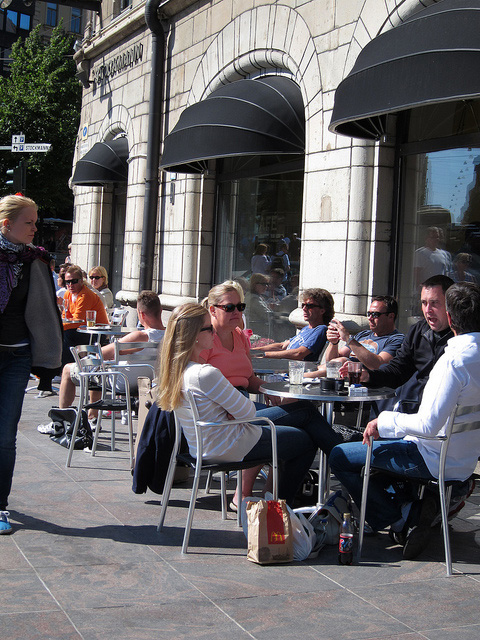 ストックマンのオープンカフェ