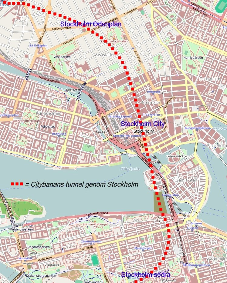 新地下鉄路線Citybanan(2017年に開業予定)