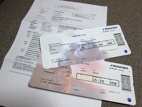 eチケットと搭乗券