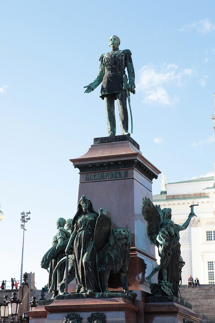 ロシア皇帝アレクサンダー2世像