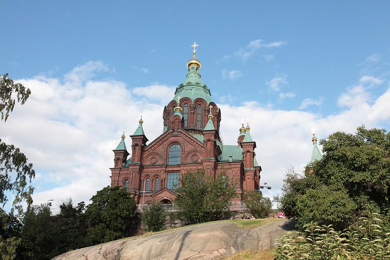 ヘルシンキの小高い丘に建つロシア正教会、ウスペンスキー寺院